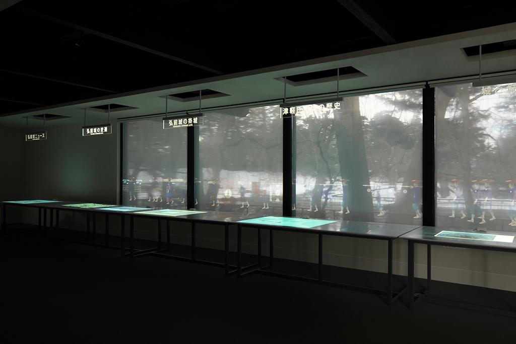 弘前城情報館展示室全景