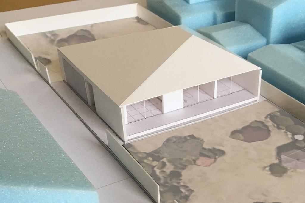 平屋の住宅の計画案 外観